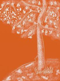 Erde, Baum, Landschaft, Abstrakt