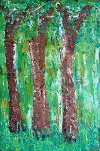 Abstrakt, Baum, Malerei