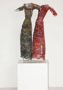 Skulptur, Figur, Metamorphose, Frau
