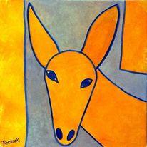 Gelb, Esel, Grau, Abstrakt