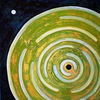 Abstrakt, Acrylmalerei, Hartfaser, Mischtechnik