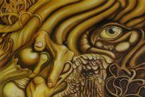 Fantasie, Airbrush, Durchblick, Mischtechnik
