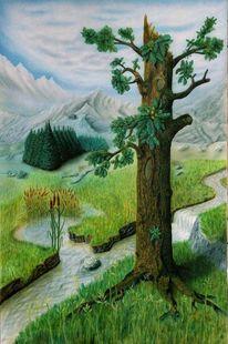 Fantasie, Leinen, Pilze, Natur