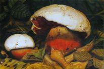 Realismus, Pilze, Leinen, Airbrush