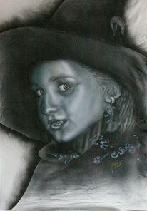 Fantasie, Airbrush, Silberhexe, Hexe