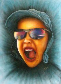 Freude, Airbrush, Durchblick, Menschen