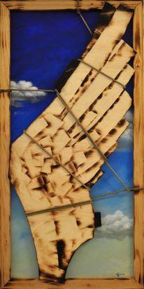 Holz, Abstrakt, Flügel, Acrylmalerei