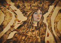 Mädchen, Portrait, Fantasie, November