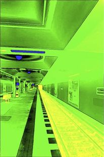 U bahn, Berlin, Malerei, Bahn