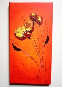 Frühling, Blumen, Acrylmalerei, Farben