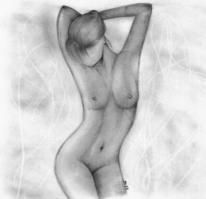 Brust, Frau, Schatten, Profil