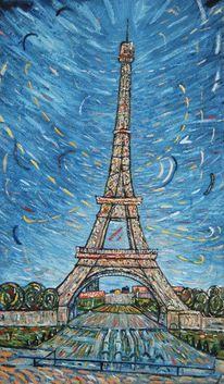 Eiffel, Tourismus, Paris, Postkarte
