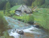 Grün, Stein, Schwarzwald, Wasser