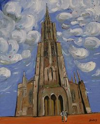 Strössig, Stadtpfarrkirche, Person, Wolken
