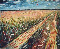 Zeitgenössische kunst, Vincent van gogh, Japanische malerei, Farben