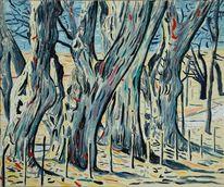 Impressionismus, Allee, Weg, Marktoberdorf
