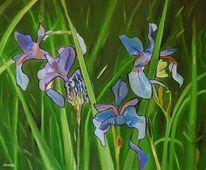 Lilien, Blumen, Grün, Gras