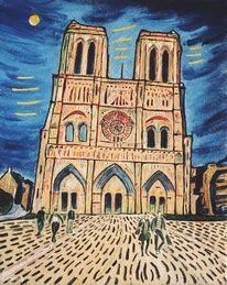 Gebäude, Warm, Kathedrale, Menschen