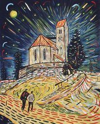 Stern, Berge, Vincent van gogh, Silvester