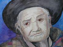 Oma, Aquarellmalerei, Bolivien, Bolivianerin