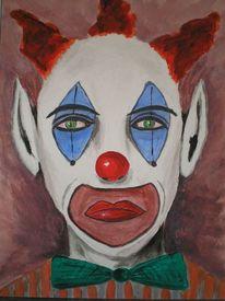 Böse, Clown, Gaukler, Gesicht