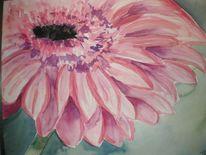 Blumen, Aquarellmalerei, Gerbera, Aquarell