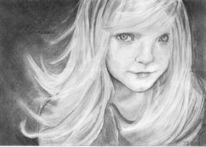 Hexenkind, Zeichnung, Bleistiftzeichnung, Portrait