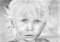 Kind, Zeichnung, Portrait, Junge