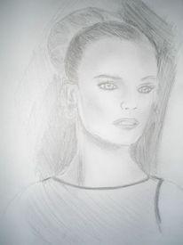 Madame, Dame, Bleistiftzeichnung, Portrait