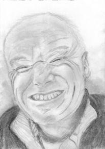 Verschmitzt, Lachen, Portrait, Mann