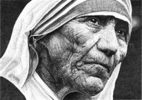 Pointillismus, Mother teresa, Mutter teresa, Dots