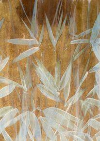 Tusche, Bambus, Blätter, Malerei