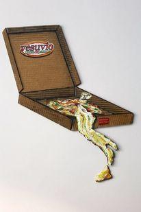 Pizza, Italien, Vesuv, Humor
