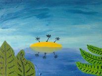 Insel, Malerei