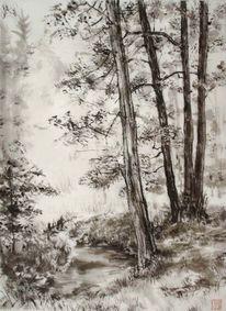 Tuschmalerei, Japanische bilder, Sumi e, Tusche malerei