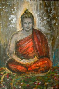 Meditation, Buddha, Jugendstil, Malerei