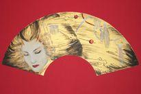 Tuschmalerei, Japanische kunst, Geisha