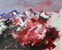 Dachstein, Berge, Schüttbild, Rot