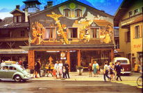 Alpen, Haus, Outsider art, Szene