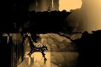 Friedhof, Digital bearbeitet, Mauer, Wiedervereinigung
