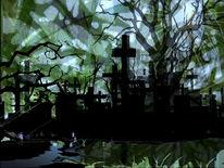 Wald, Friedhof, Waldfriedhof, Outsider art