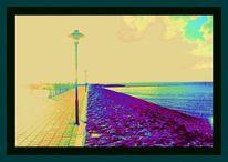 Laterne, Meer, Hafen, Outsider art