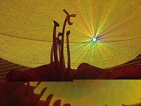 Ritterstern, Amaryllis, Hippeastrum, Sonnenuntergang