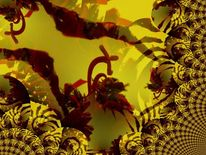 Amaryllis, Ritterstern, Outsider art, Digital bearbeitet