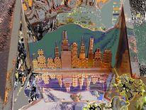 Hongkong, Outsider art, Skyline, Digital art