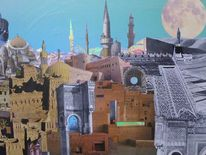 Papier und folien, Outsider art, Collage, Kasbah