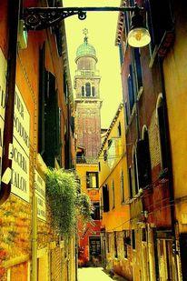 Venedig, Gasse, Campanile, Outsider art