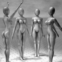 Simulationen, Grau, Digital art, Messing