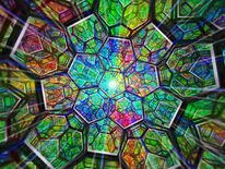 Raum, Polichromatisch, Buckyball, Matrix