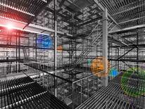 Bau, Technologie, Rahmenwerk, Geländer